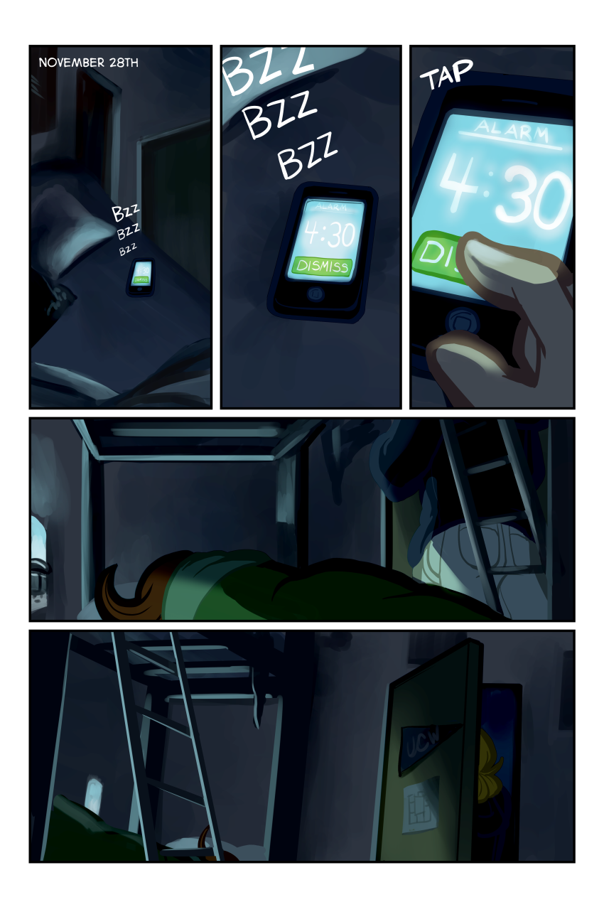 Yeah, Carl uses a nightlight. He's sensitive about it, shh.